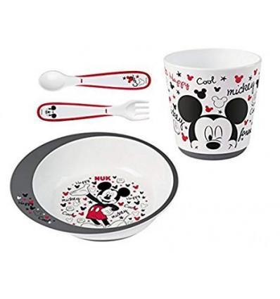 Vajilla Mickey Mouse roja y negra Nuk +6m