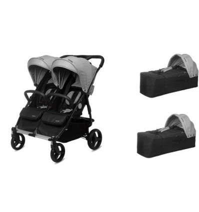 Cochecito gemelar BABY TWIN PLAYXTREM + 2 capazos